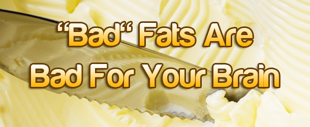 """""""Bad"""" Fats Are Bad For Your Brain"""