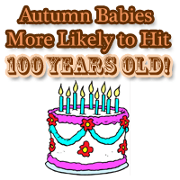 Autumn Babies More Likely to Live to 100th Birthday