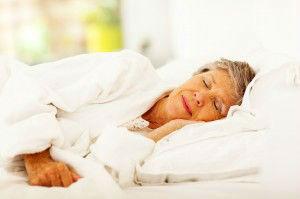 senior woman sleeping
