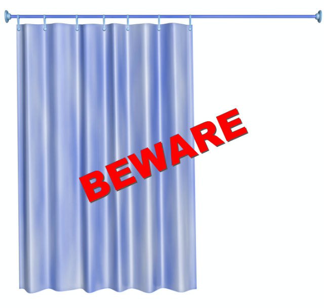 have you smelled your shower curtain lately?