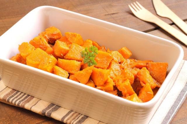 Baked spicy sweet potato