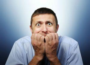 Deep fear of businessman