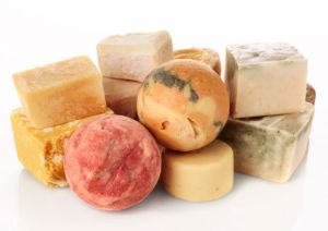 group several homemade soap scents