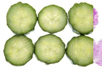 Slices of Fresh Cucumber