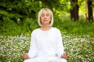 elderly yoga