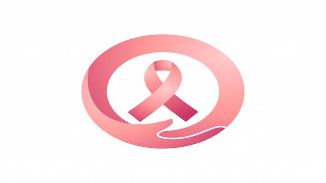 Breast cancer awareness ribbon circle