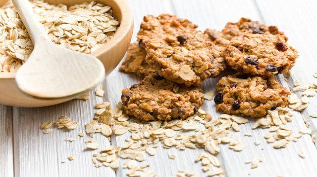 homemade cookie with oat flakes