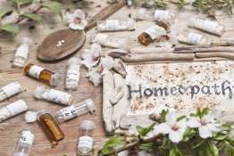 Homeopathic bottles and Pills