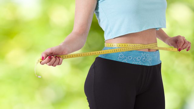 concept of losing weight with sport