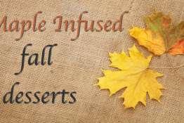 Autumn maple leaves over burlap texture background