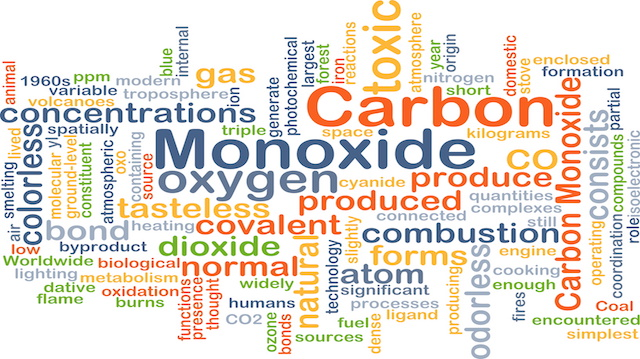 Carbon monoxide background concept