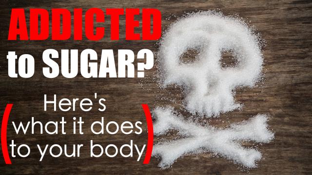 unhealthy white sugar concept