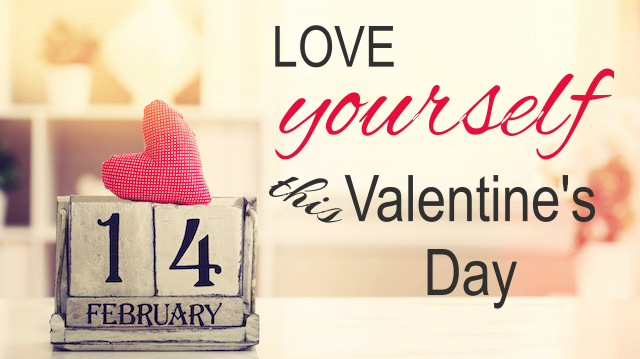 Valentines day with wooden block calendar