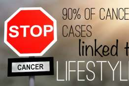 Stop cancer sign. Prevention concept.
