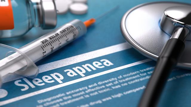 Sleep Apnea - Printed Diagnosis. Medical Concept.