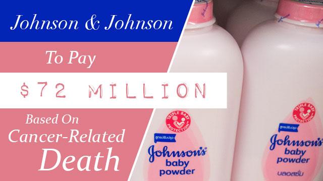 Johnson&JohnsonToPay$72MillionBasedOnCancer-RelatedDeath_640x359