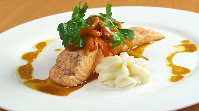 Grilled Salmon Steak
