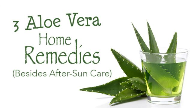 3 Aloe Vera Home Remedies (Besides After-Sun Care)