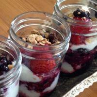 Summer Berry Parfait with Homemade Granola Recipe