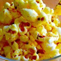 Turmeric and Garlic Infused Popcorn