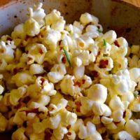 Rosemary and Garlic Infused Popcorn