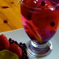 Strawberry, Blueberry and Lime Infused Water