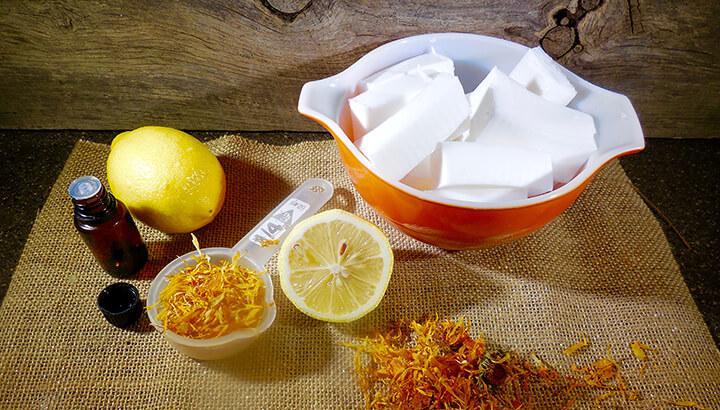 Lemon Calendua Soap 2