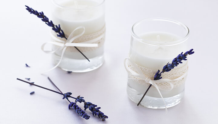 Soy-Based Lavender Scented Candles