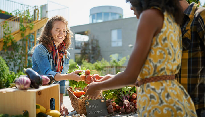 Be eco-friendly and shop at farmer's markets