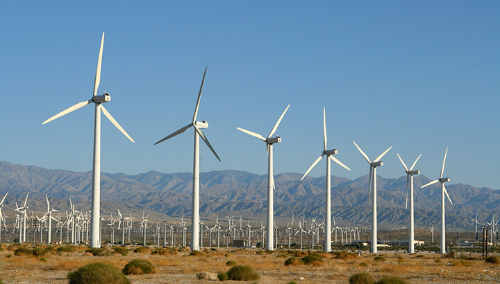 Green company wind turbines