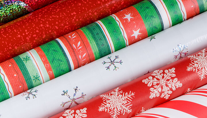 Cost of Christmas wrapping paper waste