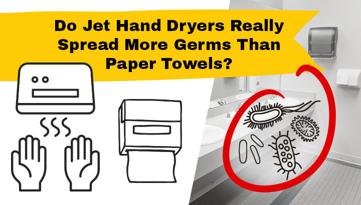 Jet hand dryers may spread germs