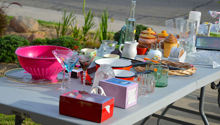 Live simply and sell things you don't need at a yard sale