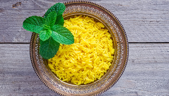 turmeric challenge yellow rice