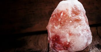 A pink salt lamp is said to have numerous health benefits