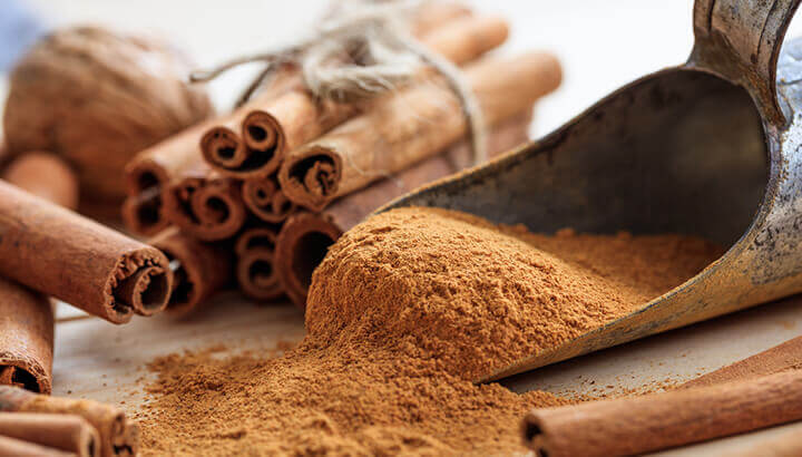 Add cinnamon to coffee