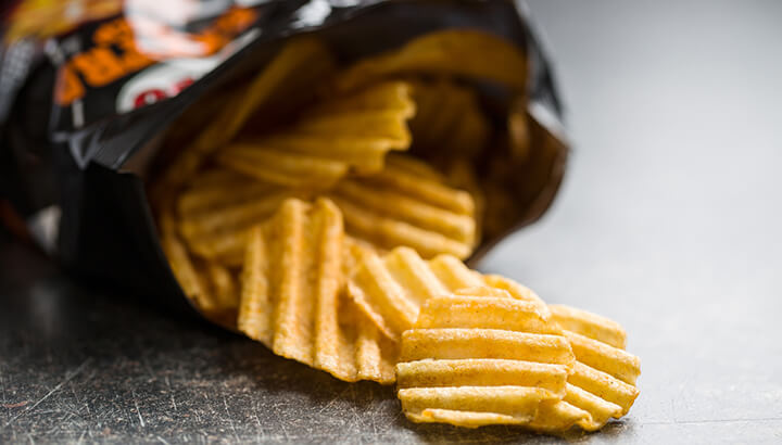 Get rid of food in your pantry like chips