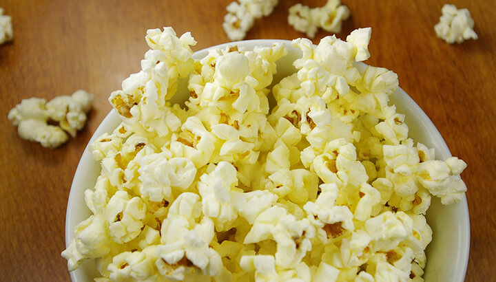 Get rid of food in your pantry like popcorn