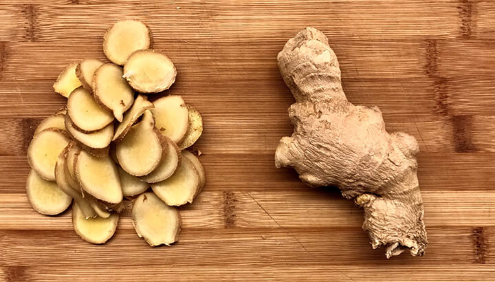 Ginger can help soothe an upset stomach