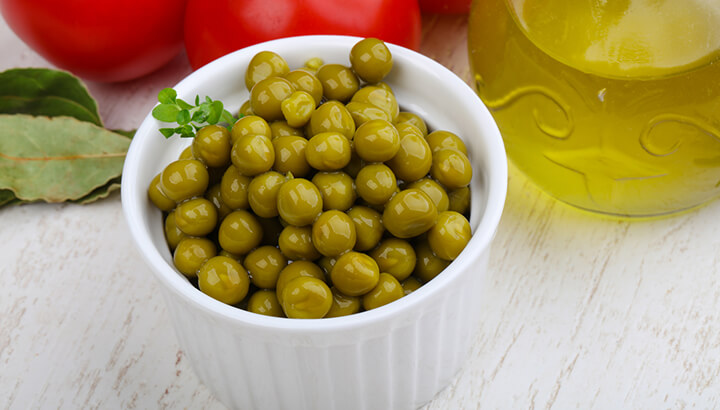 Green peas and other foods from China may be contaminated