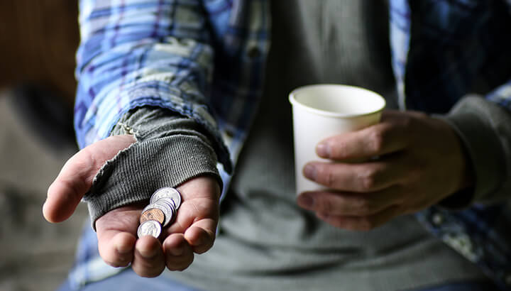 Homeless need shelter more than food