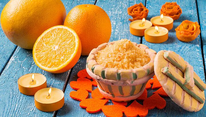 Orange peels in your bath are great for the skin