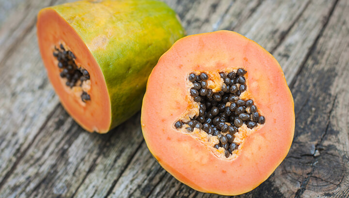 Papaya seeds can help soothe an upset stomach