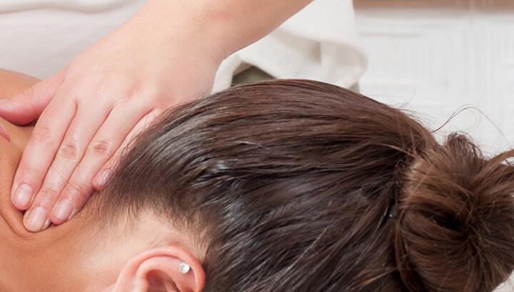 A head massage can stimulate hair growth.