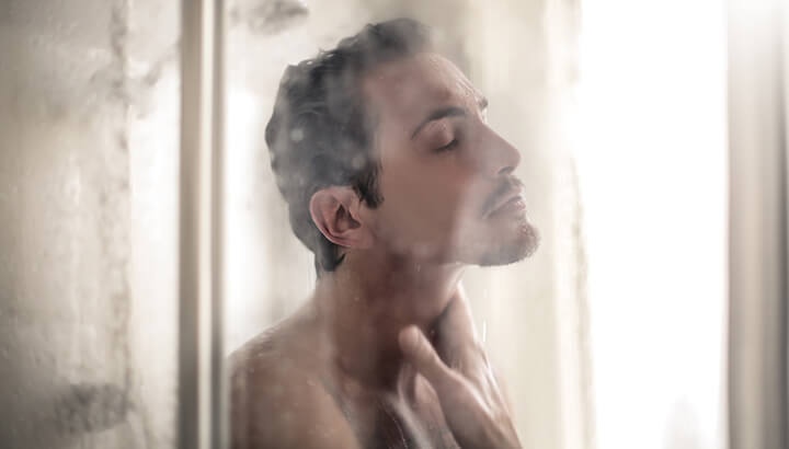 A hot shower can cause a dry penis