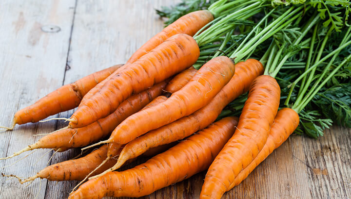 Baby carrots come from imperfect whole carrots, which are processed and rinsed in chlorine.