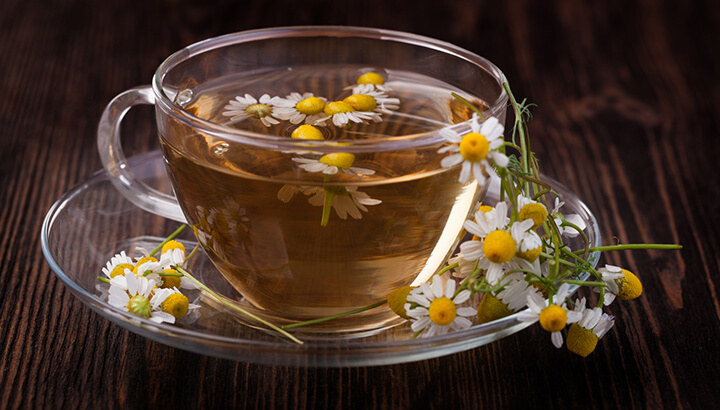 Chamomile tea and CBD oil can help prevent insomnia