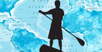Chris Bertish paddles across the Atlantic