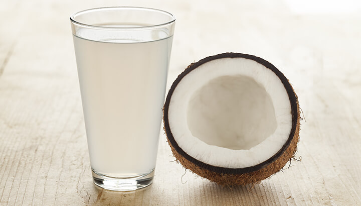 Drink a glass of coconut water after the sauna to restore your electrolyte balance.