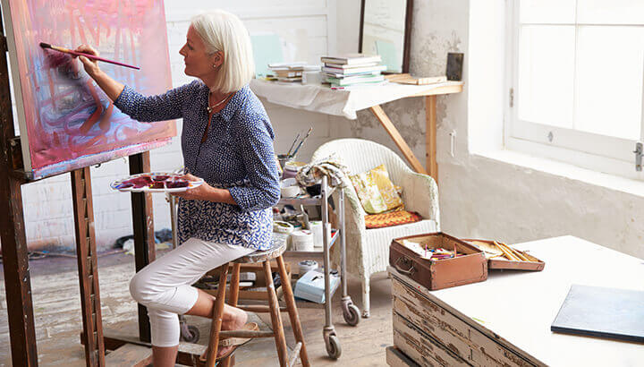 Painting can help ease anxiety